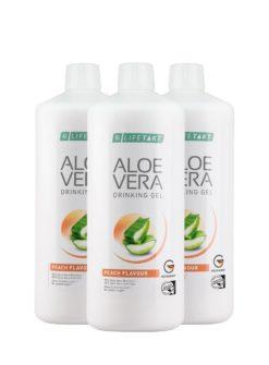 Aloe Vera Drinking Gel Pfirsich Geschmack 3er Set