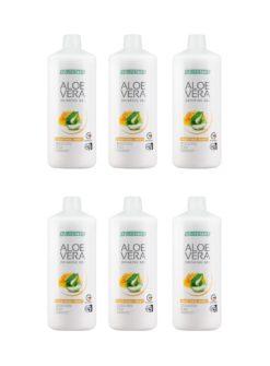 Aloe Vera Drinking Gel Traditionell mit Honig 6er Set